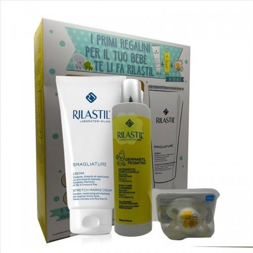 Crema Corpo Antismagliature 200ml + Detergente Dermastil + Succhietto MAM 0-2 mesi