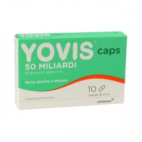 ALFASIGMA YOVIS CAPS - 10 CAPSULE 10CPS INTEGRATORE DI FERMENTI LATTICI VIVI ALFASIGMA