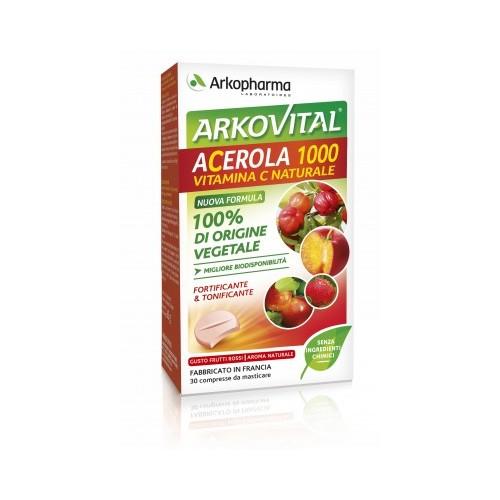 Arkopharma ARKOVITAL ACEROLA 1000 30compresse da masticare
