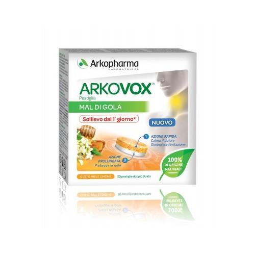 Arkopharma ARKOVOX PASTIGLIA MIELE E LIMONE 20pastiglie doppio strato