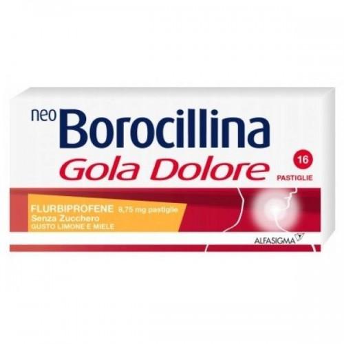 ALFASIGMA NeoBorocillina Gola Dolore 16 pastiglie Miele e Limone