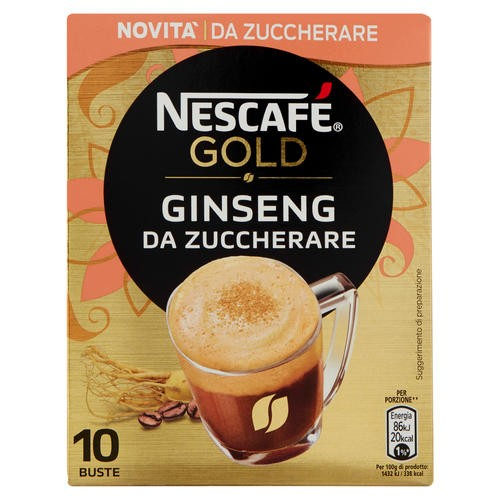 Caffe' Ginseng Da Zuccherare - Nescafe' Gold - 60 gr - 10 Bustine