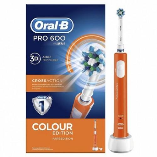Procter & gamble Oral-B PC 600 Arancio Crossaction Spazzolino elettrico