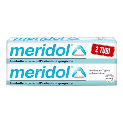 Meridol Dentifricio per l'igiene orale quotidiana 2x75ml