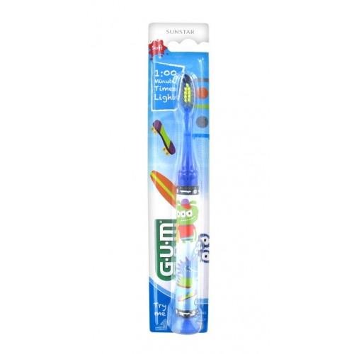 GUM Gomma delicata per bambini spazzolino con luce del bambino
