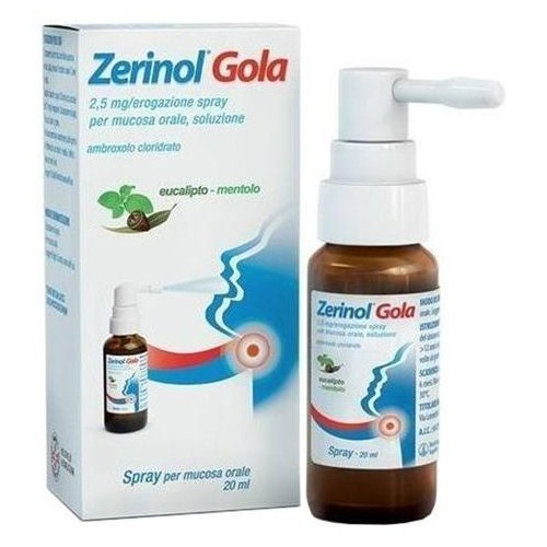 ZERINOL GOLA 2,5 MG SPRAY PER MUCOSA ORALE 20ML SANOFI
