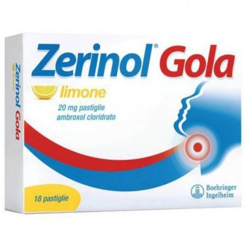 Zerinol Gola Limone 18 Pastiglie 20 mg Trattamento mal di gola SANOFI