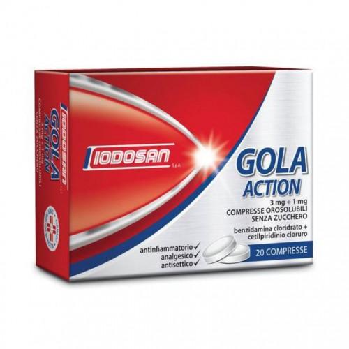 IODOSAN Gola Action 20 Compresse Orosolubili 3 mg + 1 mg